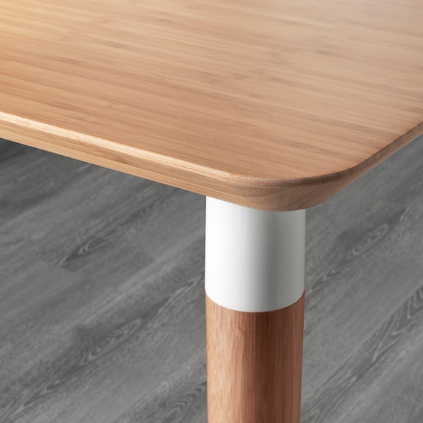HILVER Table, bamboo, 140x65 cm