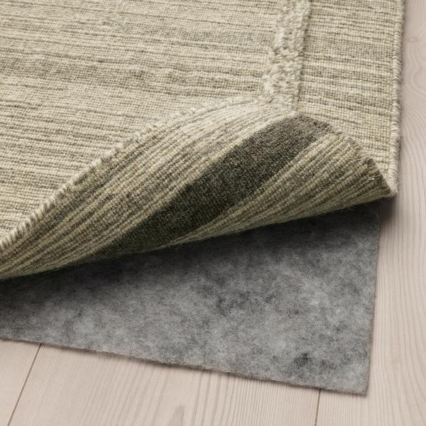 HÖJET Rug, flatwoven, handmade/beige, 133x195 cm