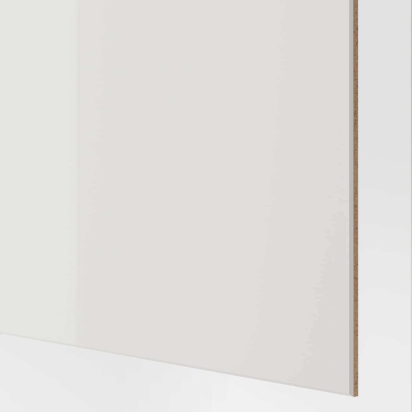 Hokksund زوج من أبواب منزلقة لامع رمادي فاتح Ikea