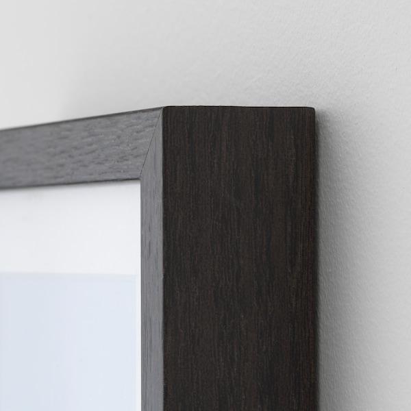 HOVSTA Frame, dark brown, 21x30 cm