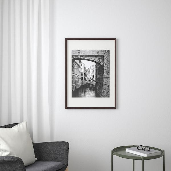 HOVSTA Frame, dark brown, 50x70 cm