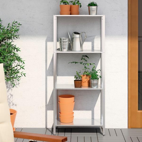 HYLLIS shelving unit in/outdoor 60 cm 27 cm 140 cm 25 kg