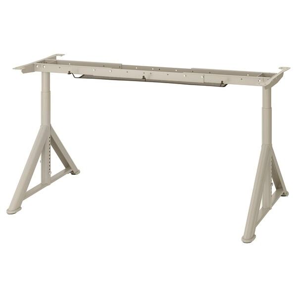 IDÅSEN Underframe for table top, beige, 146x67x76 cm