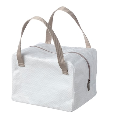 IKEA 365+ حقيبة غداء, أبيض/بيج, 22x17x16 سم