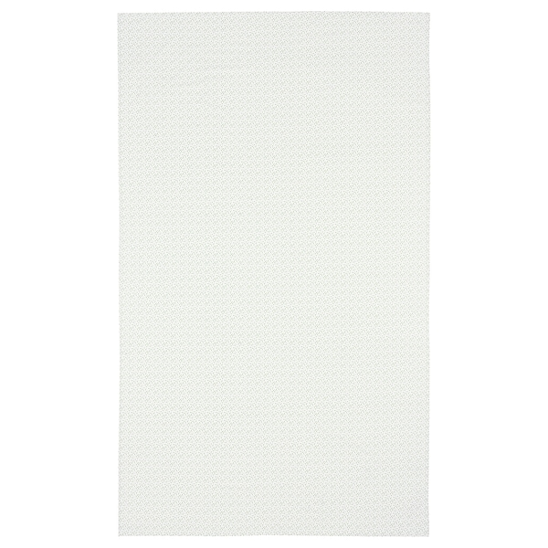 INBJUDEN شرشف طاولة, أبيض/أخضر, 145x240 سم