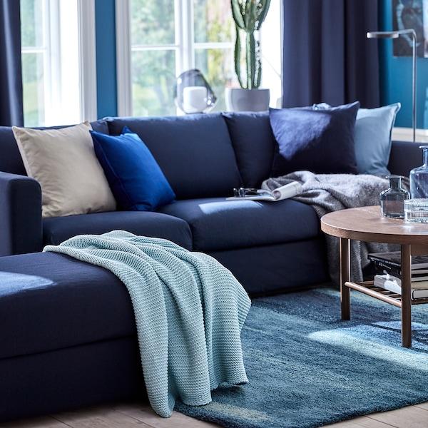 INGABRITTA Throw, light blue, 130x170 cm
