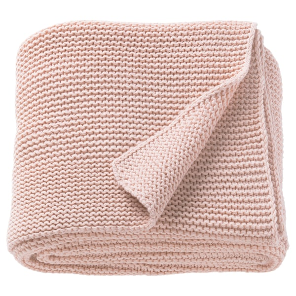 INGABRITTA Throw, pale pink, 130x170 cm