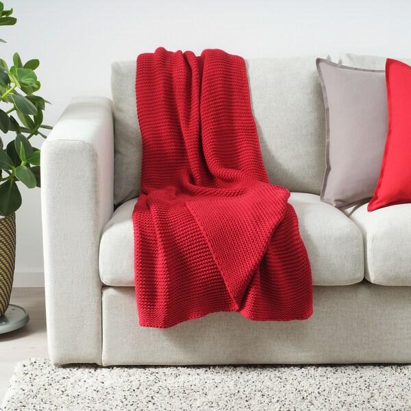 INGABRITTA Throw, red, 130x170 cm