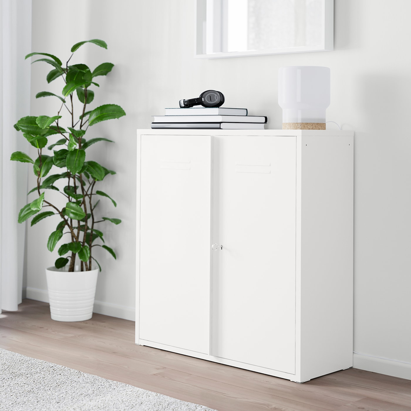 Ivar Cabinet With Doors White Ikea