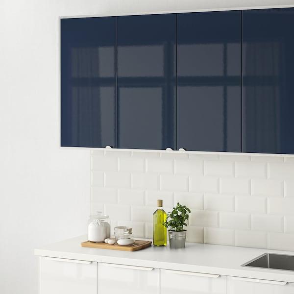 JÄRSTA Door, high-gloss black-blue, 40x40 cm