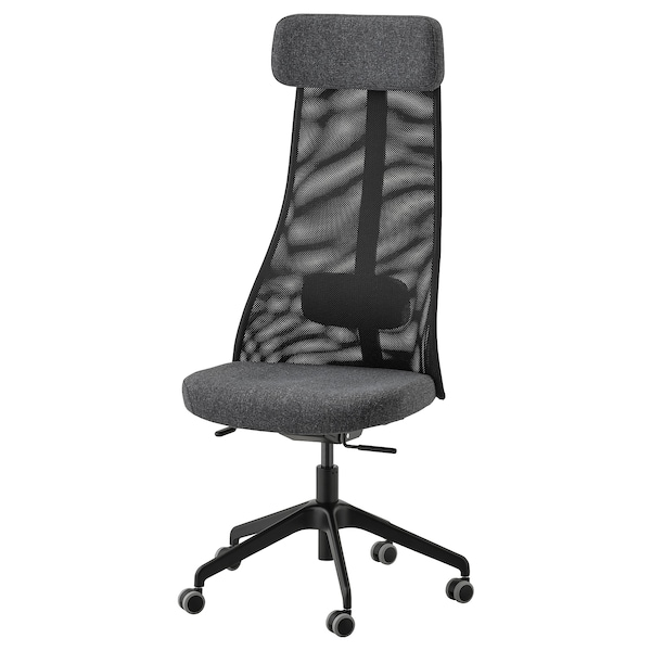 JÄRVFJÄLLET Office chair, Gunnared dark grey