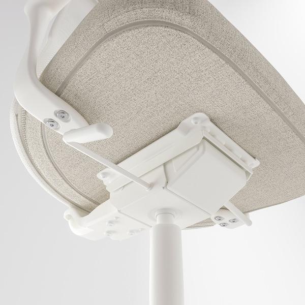 JÄRVFJÄLLET كرسي مكتب بمساند ذراعين, Gunnared بيج/أبيض