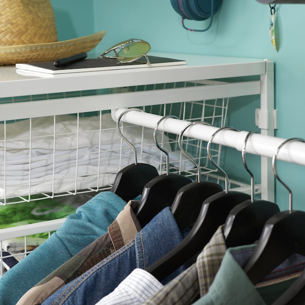 JONAXEL adjustable clothes rail white 46 cm 82 cm 30 kg