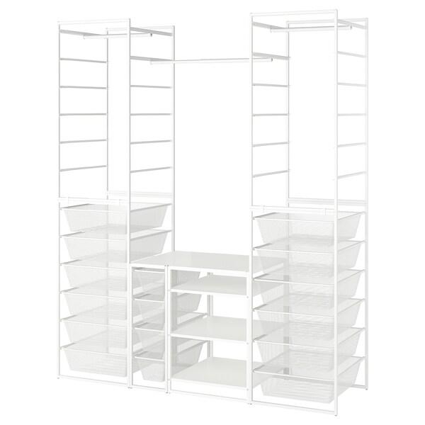 JONAXEL Frame/mesh baskts/clths rl/shlv uts, white, 173x51x207 cm