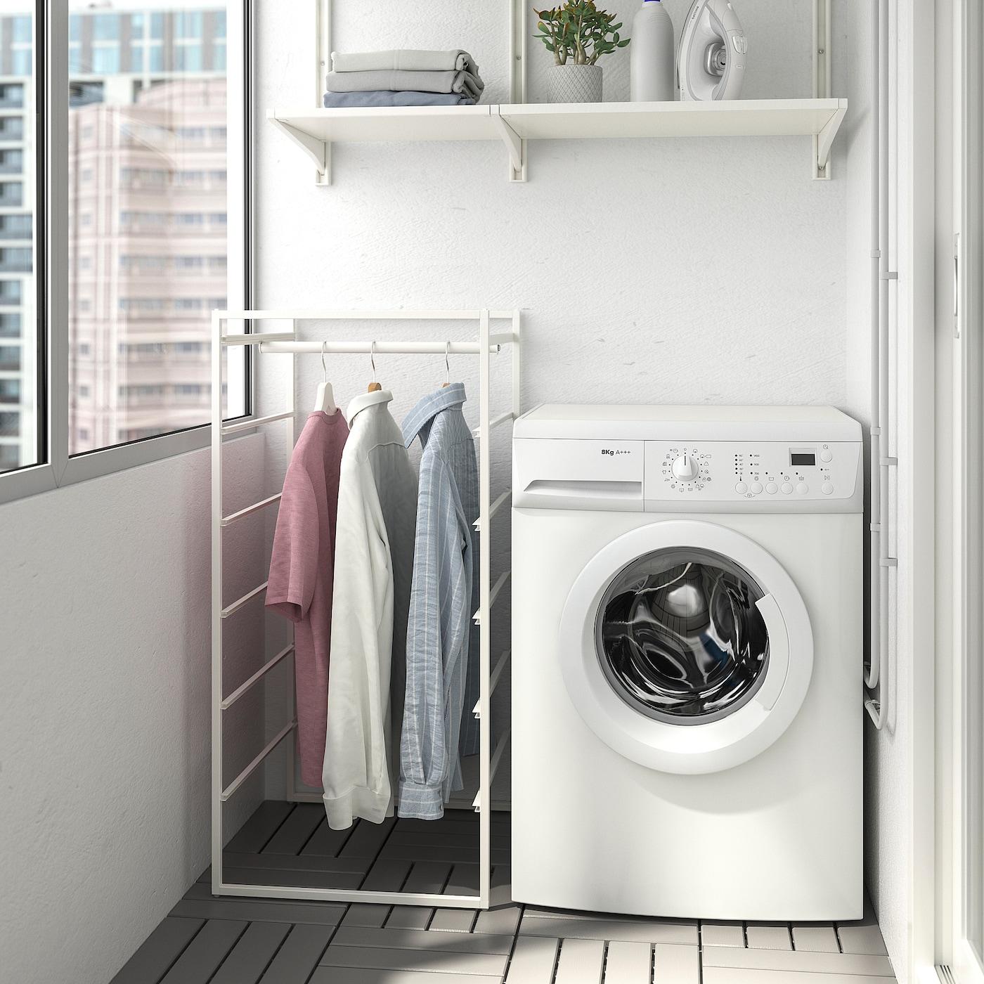 JONAXEL Frame with clothes rail, white, 50x51x104 cm