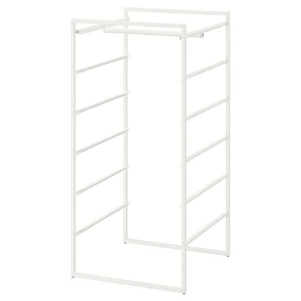 JONAXEL Frame with clothes rail, white, 50x51x104 cm