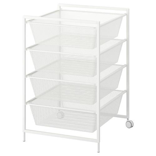 JONAXEL frame with mesh baskets/castors 50 cm 51 cm 73 cm