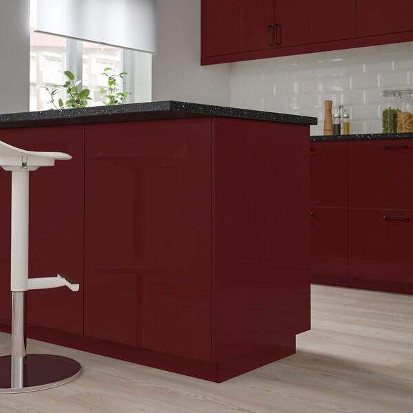 KALLARP Cover panel, high-gloss dark red-brown, 39x240 cm