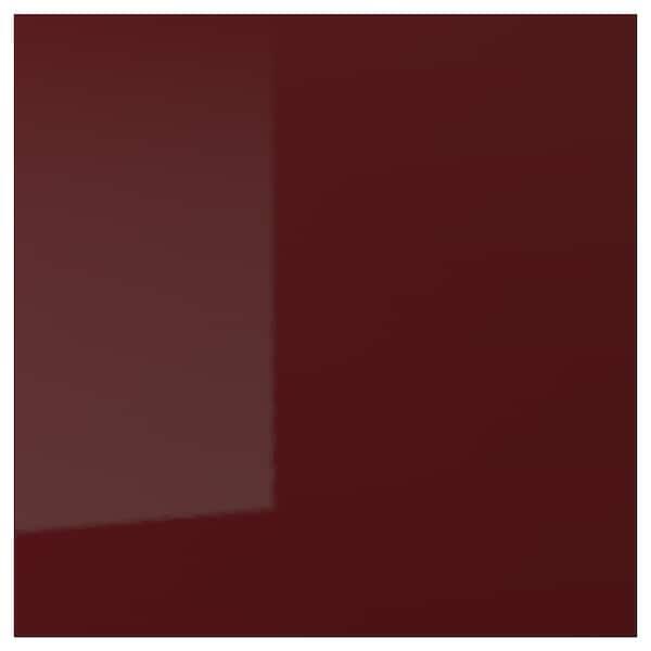 KALLARP باب, لامع أحمر-بني غامق, 60x60 سم