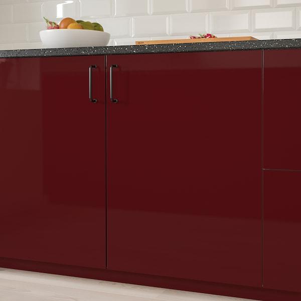 KALLARP باب, لامع أحمر-بني غامق, 60x80 سم
