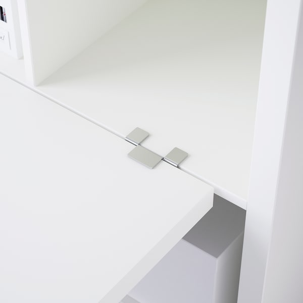 KALLAX Desk combination, white, 77x147x159 cm