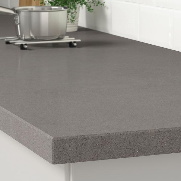 KASKER سطح عمل حسب الطلب, رمادي شكل الحجر/كوارتز, 1 م²x4.0 سم