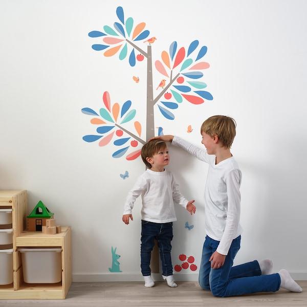 KINNARED Decoration stickers, heightchart tree, 160 cm