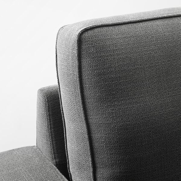 KIVIK أريكة زاوية، 5 مقاعد, مع أريكة طويلة/Hillared فحمي