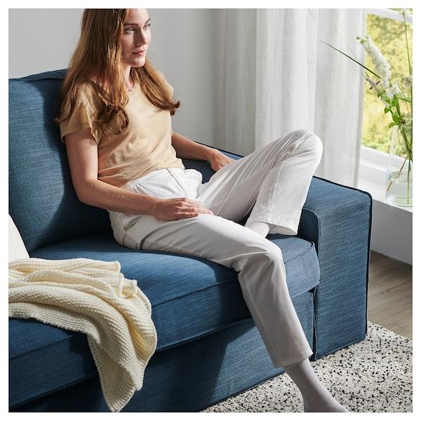 KIVIK أريكة زاوية، 5 مقاعد, مع أريكة طويلة/Hillared أزرق غامق