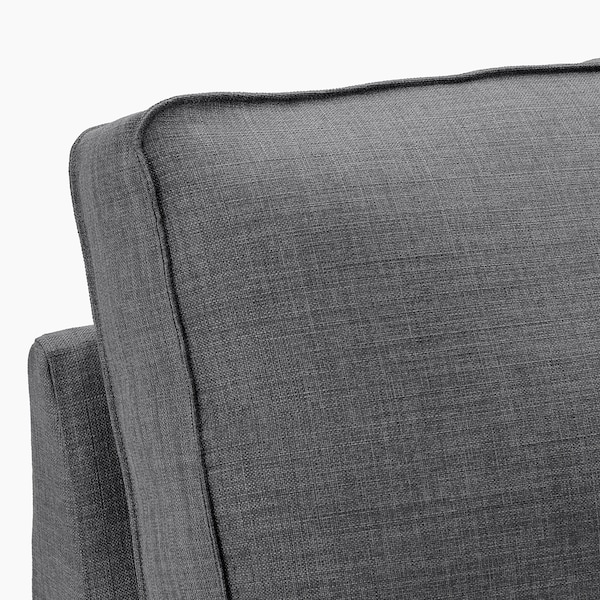 KIVIK أريكة زاوية، 5 مقاعد, مع أريكة طويلة/Skiftebo رمادي غامق