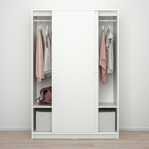 KLEPPSTAD خزانة ملابس مع باب منزلق, أبيض, 117x176 سم