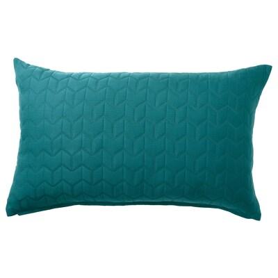 KÖLAX غطاء وسادة, أخضر غامق, 40x65 سم
