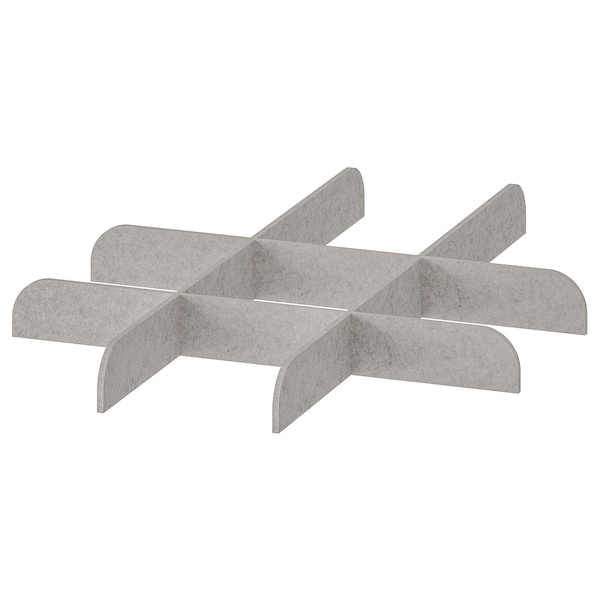 KOMPLEMENT Divider for pull-out tray, light grey, 50x58 cm