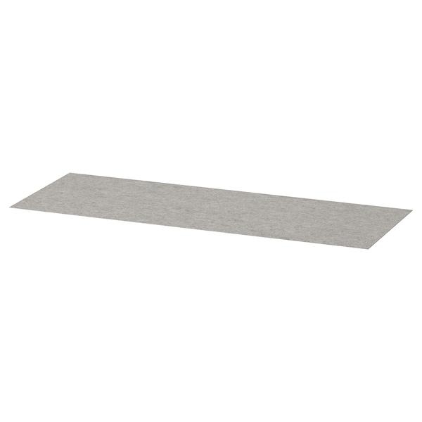 KOMPLEMENT Drawer mat, light grey, 90x30 cm