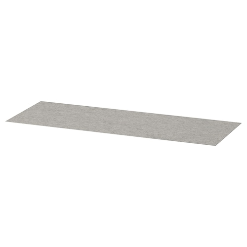 KOMPLEMENT drawer mat light grey 89.8 cm 29.8 cm 0.2 cm 0.27 m²