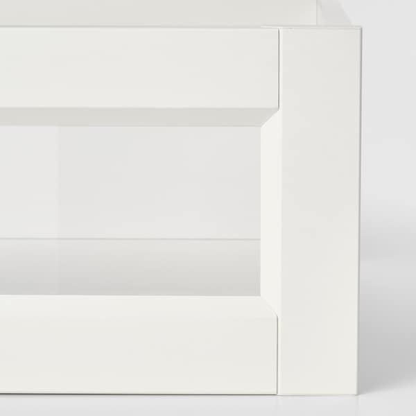 KOMPLEMENT درج بواجهة زجاجية مؤطرة, أبيض, 50x58 سم