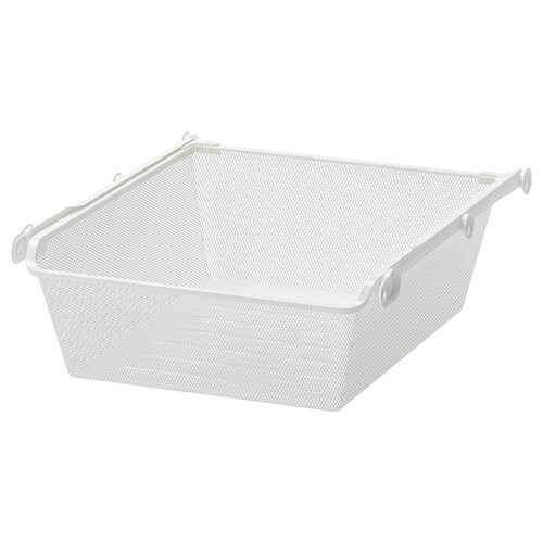 KOMPLEMENT mesh basket with pull-out rail white 46.1 cm 50 cm 53.3 cm 16 cm 58 cm 15 kg