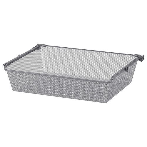 KOMPLEMENT mesh basket with pull-out rail dark grey 71.1 cm 75 cm 53.3 cm 16 cm 58 cm 15 kg