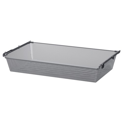 KOMPLEMENT mesh basket with pull-out rail dark grey 96.5 cm 100 cm 53.3 cm 16 cm 58 cm 15 kg