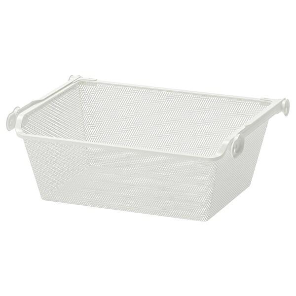 KOMPLEMENT mesh basket with pull-out rail white 46.1 cm 50 cm 33.5 cm 16 cm 35 cm 15 kg