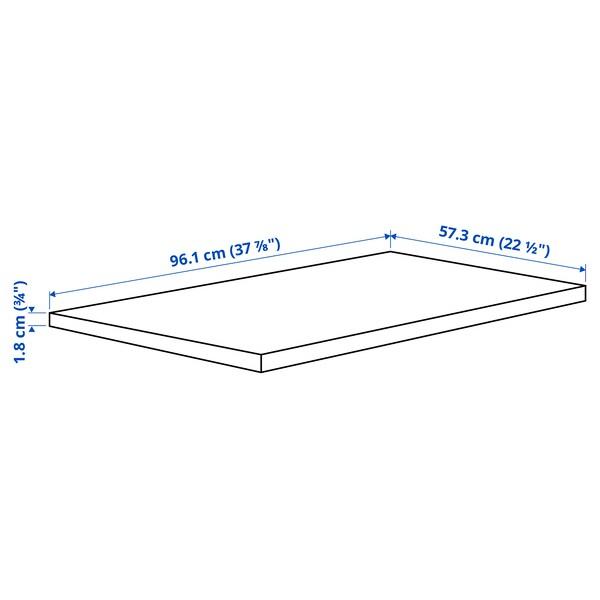 KOMPLEMENT رف, أسود-بني, 100x58 سم