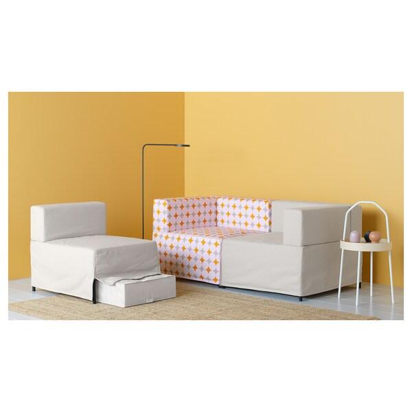 KUNGSHAMN modular corner sofa, 2-seat Idekulla beige/Yttered multicolour 85 cm 71 cm 152 cm 170 cm 23 cm 65 cm 44 cm