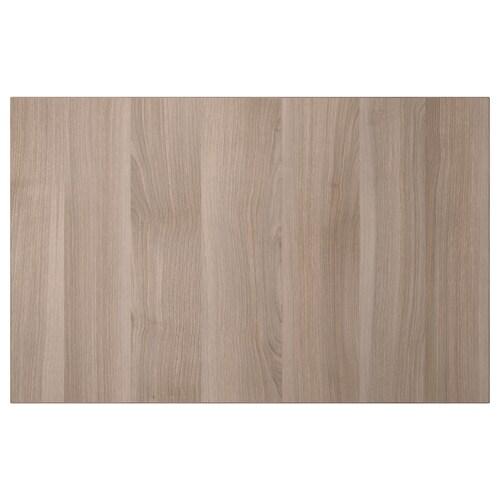 LAPPVIKEN door/drawer front grey stained walnut effect 60 cm 38 cm