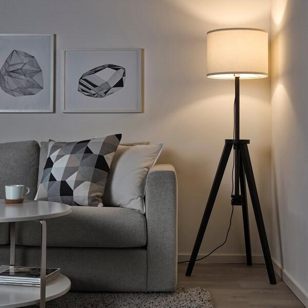 Lauters Floor Lamp Brown Ash White Ikea