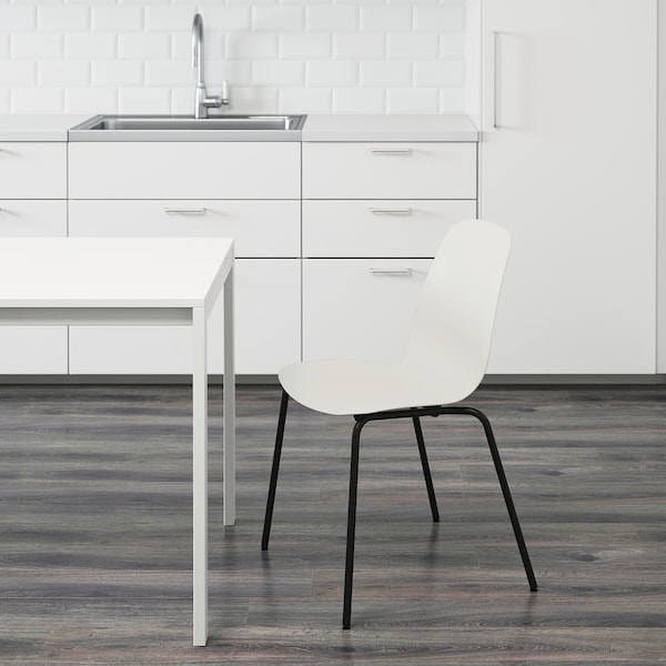 LEIFARNE Chair, white/Broringe black