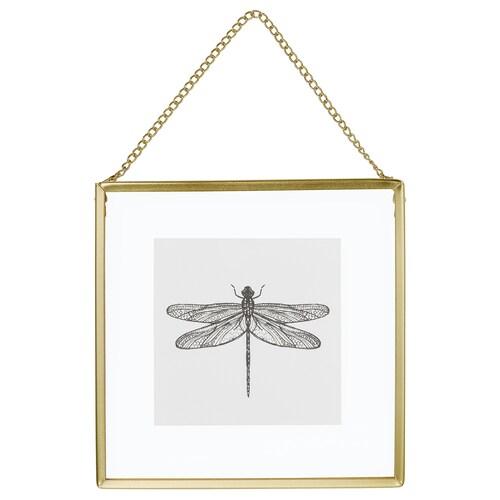 LERBODA frame gold-colour 16 cm 16 cm 16.5 cm 16.5 cm