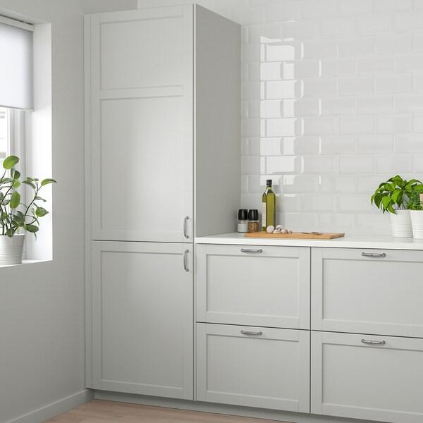LERHYTTAN Door, light grey, 60x140 cm