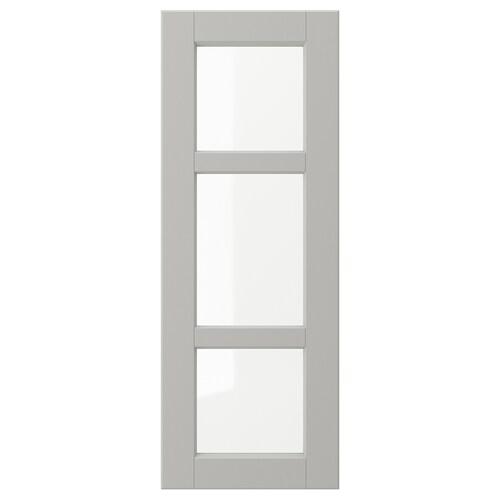 LERHYTTAN glass door light grey 29.7 cm 80 cm 30 cm 79.7 cm 1.9 cm