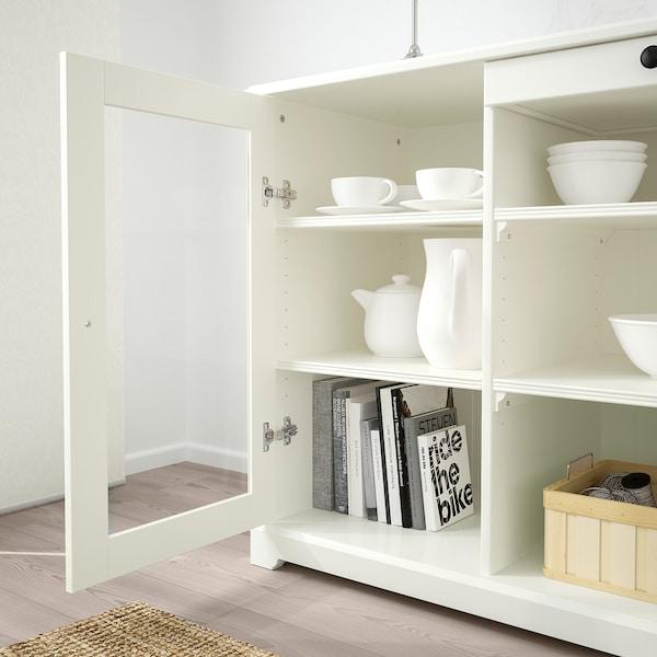 LIATORP خزانة جانبية, أبيض, 145x87 سم