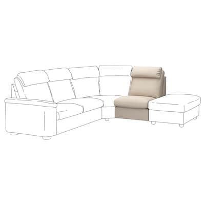 LIDHULT 1-seat section, Gassebol light beige